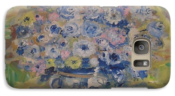 Galaxy Case featuring the painting Flow Bleu by Laurie L