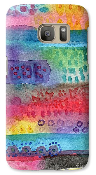 Daisy Galaxy S7 Case - Flower Garden by Linda Woods
