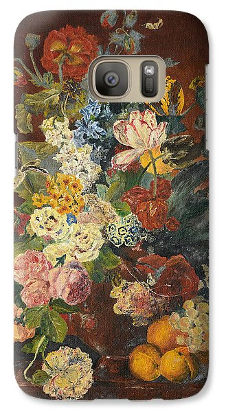 Galaxy Case featuring the painting Flowers Of Light by Mary Ellen Anderson