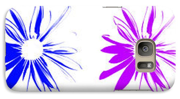Galaxy Case featuring the digital art Flowers On White by Maggy Marsh