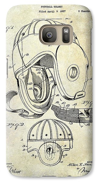 1927 Football Helmet Patent Galaxy S7 Case