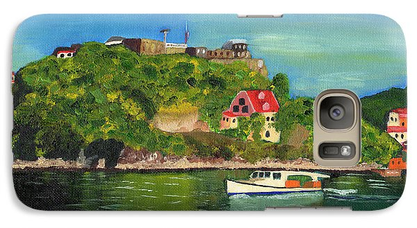 Galaxy Case featuring the painting Fort George Grenada by Laura Forde