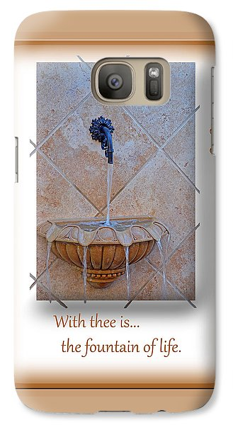 Galaxy Case featuring the photograph Fountain Of Life by Larry Bishop
