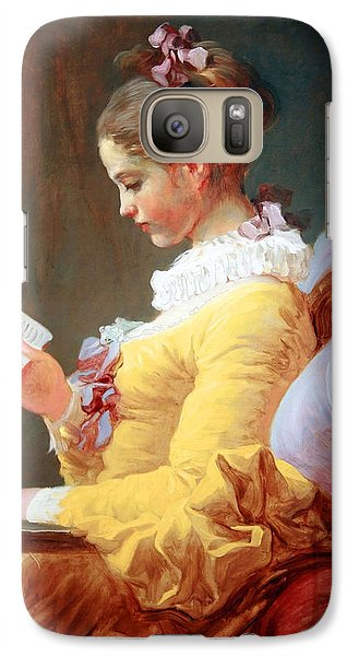 Galaxy Case featuring the photograph Fragonard's Young Girl Reading by Cora Wandel
