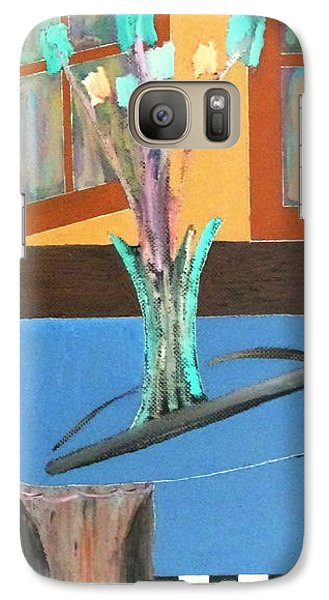 Galaxy Case featuring the painting Fresh Flowers by Bill OConnor