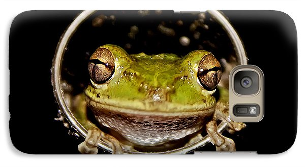 Galaxy Case featuring the photograph Frog by Olga Hamilton