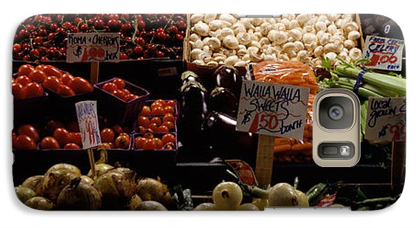Fruits And Vegetables At A Market Galaxy Case by Panoramic Images