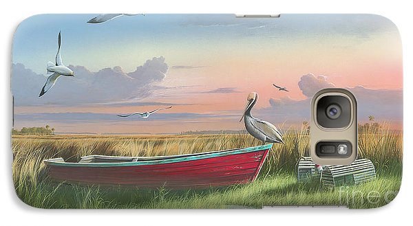 Galaxy Case featuring the painting Gathering At Sunrise by Mike Brown