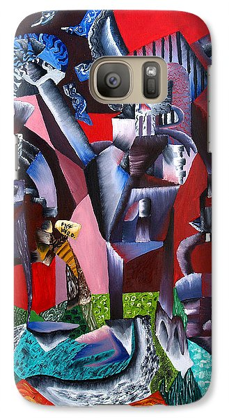 Galaxy Case featuring the painting Gaungian Dimensional by Ryan Demaree