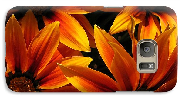 Galaxy Case featuring the photograph Gazania Named Kiss Orange Flame by J McCombie