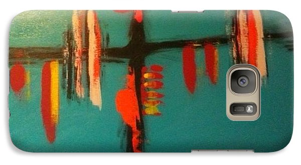 Galaxy Case featuring the painting Gaze Over The Waterway by Theresa Kennedy DuPay