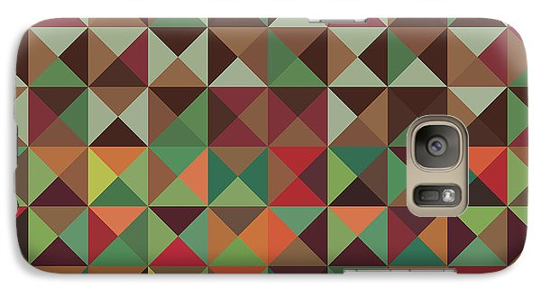 Galaxy Case featuring the digital art Geometric Pattern by Mike Taylor