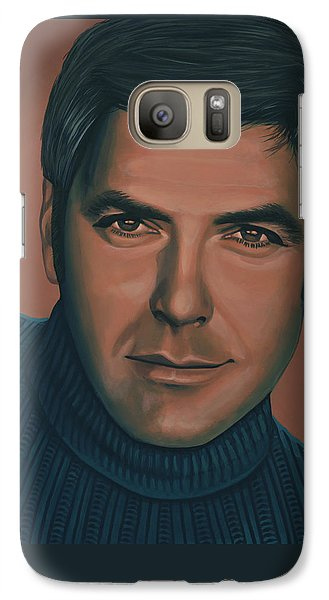 Robin Galaxy S7 Case - George Clooney Painting by Paul Meijering