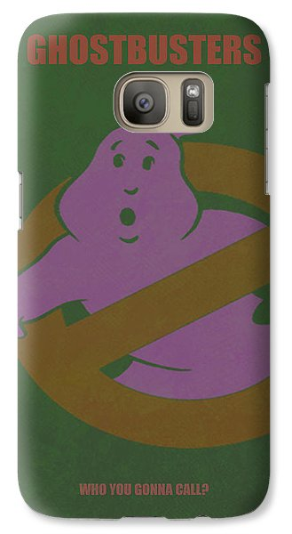 Galaxy Case featuring the digital art Ghostbusters Movie Poster by Brian Reaves