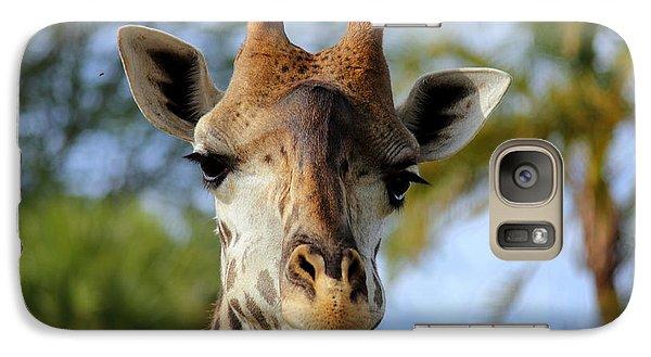 Galaxy Case featuring the photograph Giraffe by Lisa L Silva