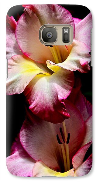 Galaxy Case featuring the photograph Gladiolus Beauty by Eve Spring