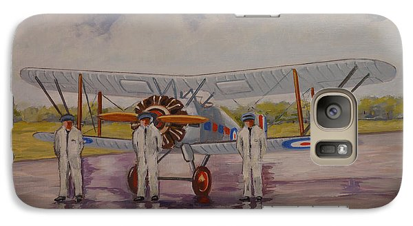 Galaxy Case featuring the painting Gloster Gamecock by Murray McLeod