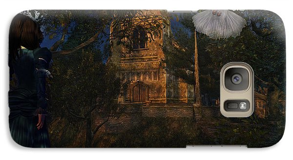 Galaxy Case featuring the digital art Goatswood Cathedral by Kylie Sabra