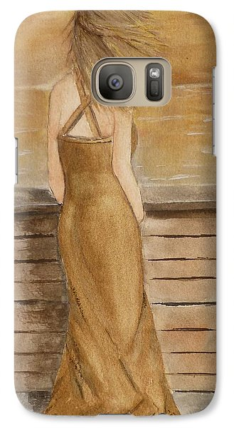 Galaxy Case featuring the painting Golden Breeze by Kelly Mills