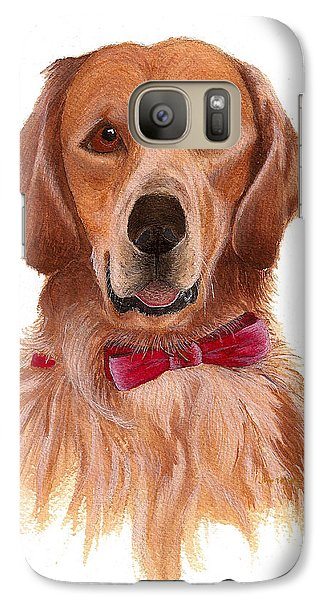 Galaxy Case featuring the painting Golden Labrador by Nan Wright