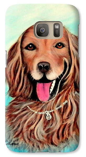 Galaxy Case featuring the painting Golden Retriever by Fram Cama