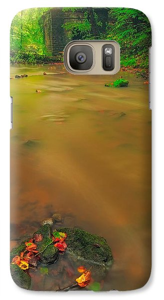Galaxy Case featuring the photograph Golden River by Maciej Markiewicz