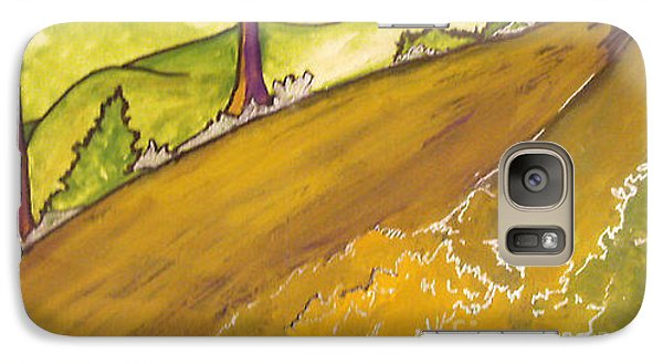 Galaxy Case featuring the painting Golden Road by Iris Gelbart