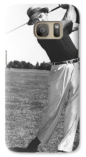 Golfer Sam Snead Galaxy S7 Case by Underwood Archives