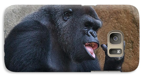 Galaxy Case featuring the photograph Gorilla by Cathy Donohoue