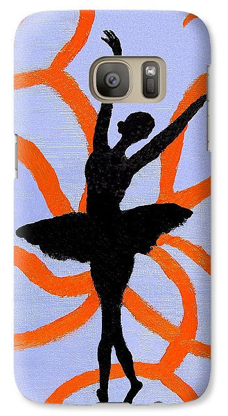 Galaxy Case featuring the painting Graceful Silhouette by Margaret Harmon