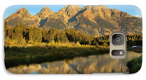 Galaxy Case featuring the photograph Grand Teton by Alan Vance Ley