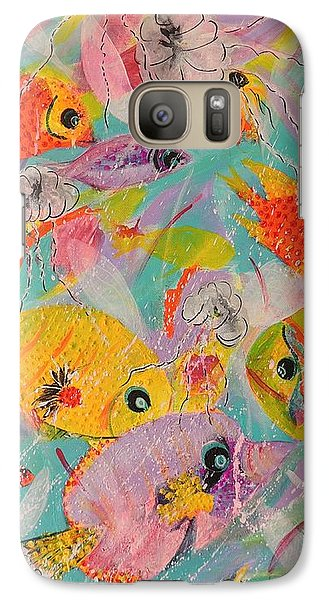 Galaxy Case featuring the painting Great Barrier Reef Fish by Lyn Olsen