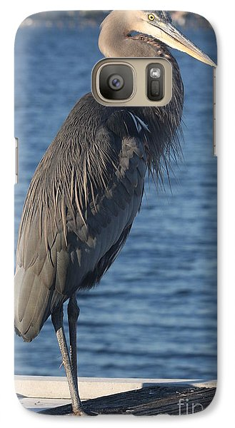 Galaxy Case featuring the photograph Great Blue Heron  by Christiane Schulze Art And Photography