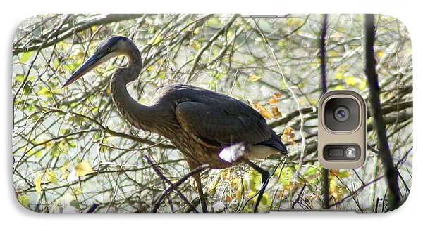 Galaxy Case featuring the photograph Great Blue Heron In Bushes by Karen Silvestri