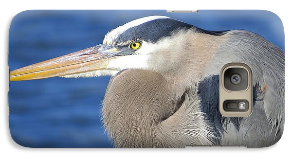 Galaxy Case featuring the photograph Great Blue Heron Profile by Phyllis Beiser