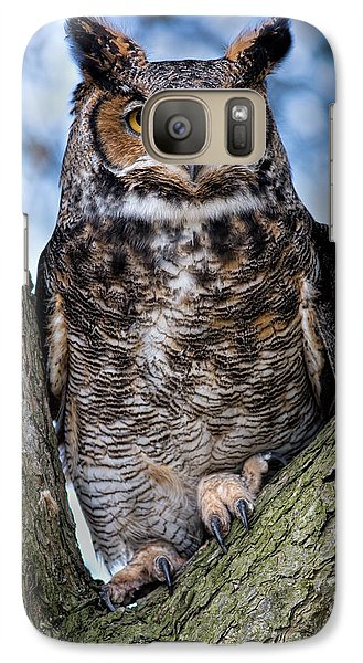 Great Horned Owl Galaxy S7 Case