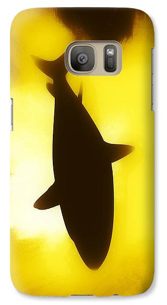 Galaxy Case featuring the digital art Great White  by Aaron Berg