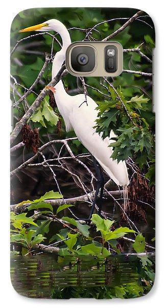 Great White Egret Galaxy S7 Case