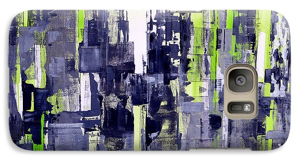 Galaxy Case featuring the painting Green City by Katie Black