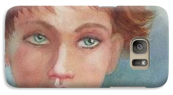 Galaxy Case featuring the painting Green Eyes by Marilyn Jacobson