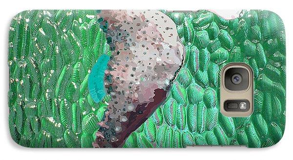 Galaxy Case featuring the digital art Green Glass Sea Horse by Megan Dirsa-DuBois