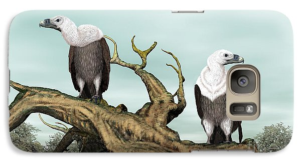 Galaxy Case featuring the digital art Griffon Vultures by Walter Colvin