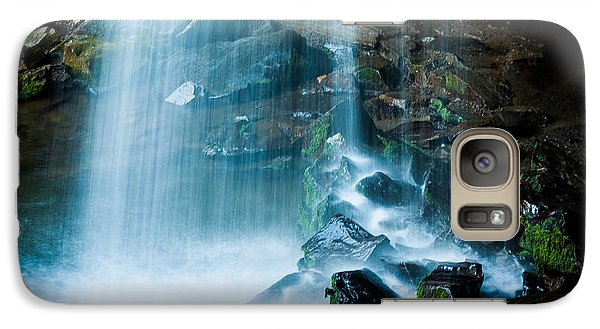 Galaxy Case featuring the photograph Grotto Falls by Jay Stockhaus