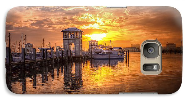 Galaxy Case featuring the photograph Gulfport Harbor by Maddalena McDonald