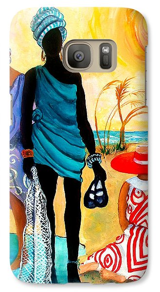 Galaxy Case featuring the painting Gullah-creole Trio  by Diane Britton Dunham