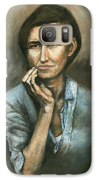 Galaxy Case featuring the painting Hannah -timeless Beauty by Mary Ellen Anderson
