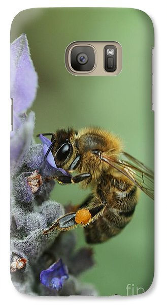 Galaxy Case featuring the photograph Happy Bee by Joy Watson