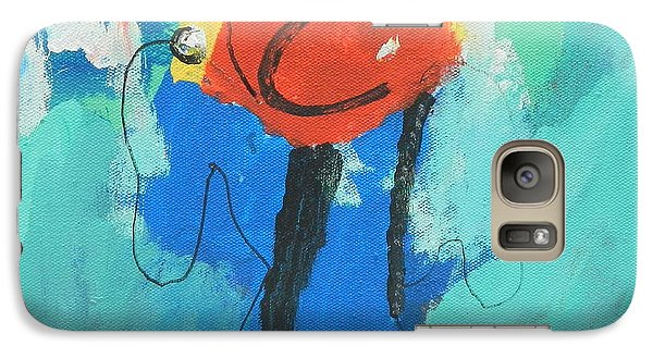 Galaxy Case featuring the painting Happy Blue Fish by Artists With Autism Inc