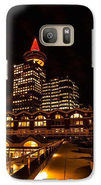 Galaxy Case featuring the photograph Harbour Centre Christmas Tree by Haren Images- Kriss Haren
