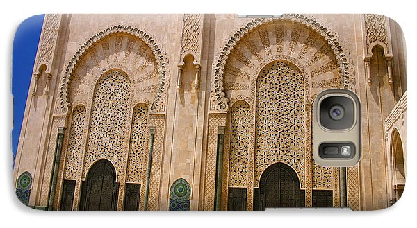 Galaxy Case featuring the photograph Hassan II Mosque Grand Mosque Sour Jdid Casablanca Morocco by Ralph A  Ledergerber-Photography